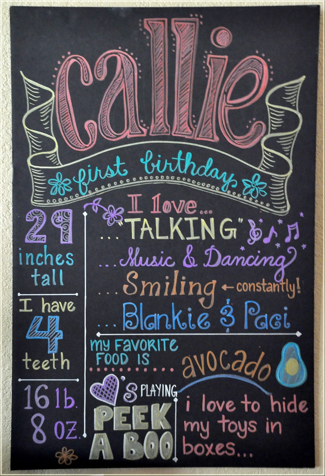 Keeping Up With The Morgans Callie S Pink Amp Chalkboard