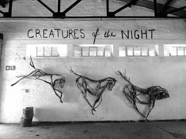 Creatures of the Night - an exhibition at the Factory Cafe with Bryan Cusack of the WoodShack