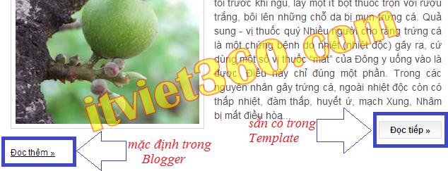 Đọc thêm blogger, xóa read more