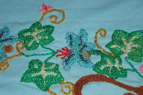 Brazilian Embroidery By Athiya Fassey Beadwork Bed Sheet Design