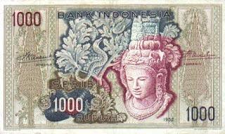 Uang Rp 1000,00 Tahun 1952