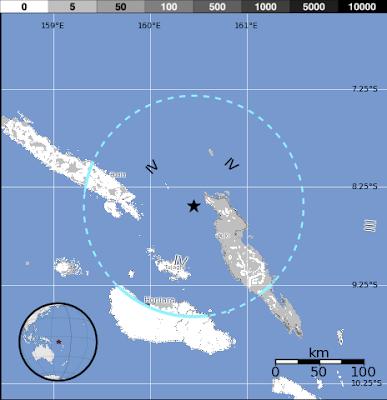 Sismo islas Salomoan, 17 de Junio de 2012