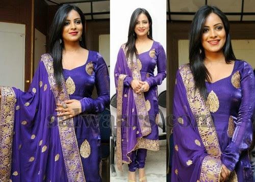 Akanksha Purple Salwar Kameez