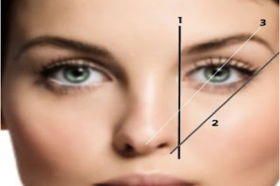 medir las cejas