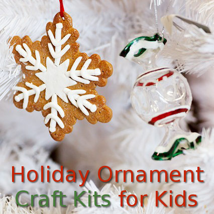 Christmas holiday ornament craft kits for kids for Craft kits for adults to make