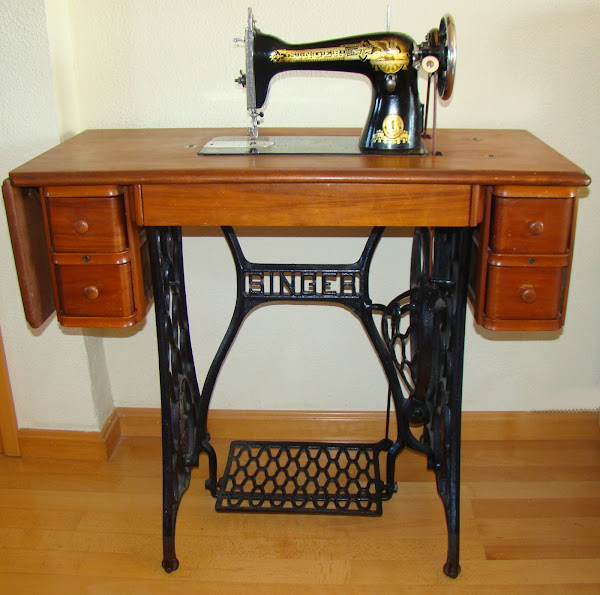 Mueble maquina de coser aprender manualidades es - Mueble de costura ...
