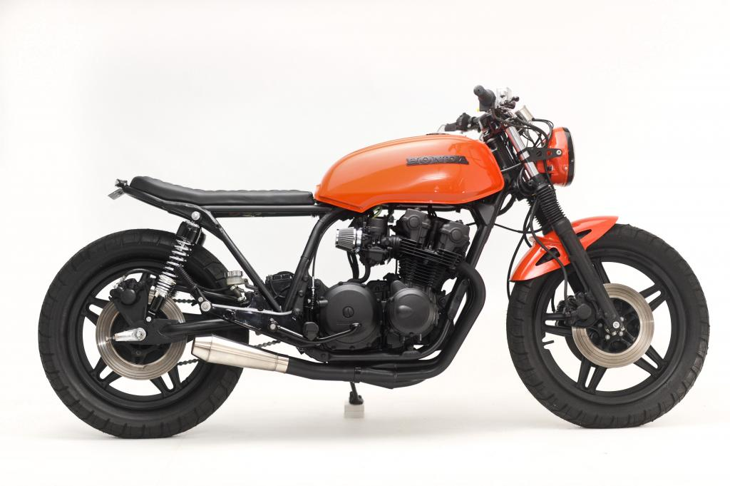 Racing Caf U00e8  Honda Cb 750 1980  U0026quot Midnight U0026quot  By Steel Bent Customs