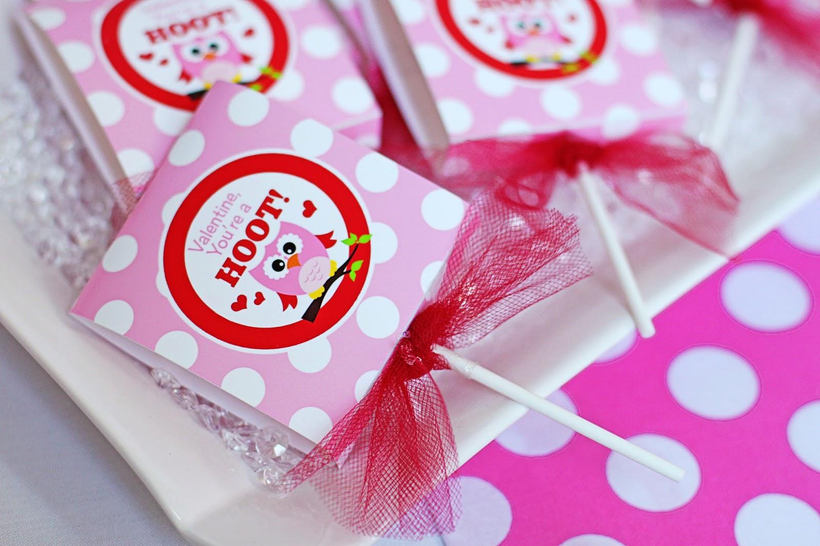 Amanda\'s Parties To Go: FREE Valentines Favor - Lollipop Cover