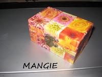 Caja de madera decoupage flores
