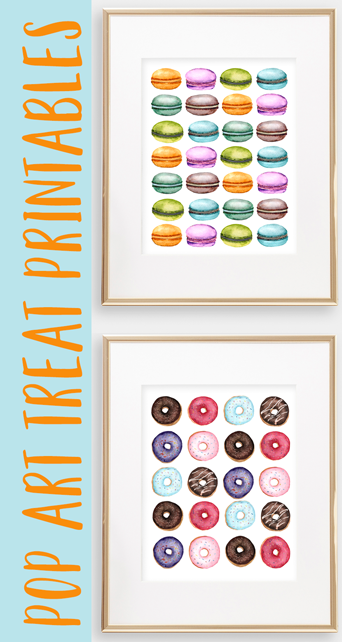 My latest printable bundle is all about sweet treats!