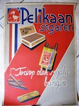 Poster Tua Cerutu dengan Ejaan Lama dan Kalimat Unik