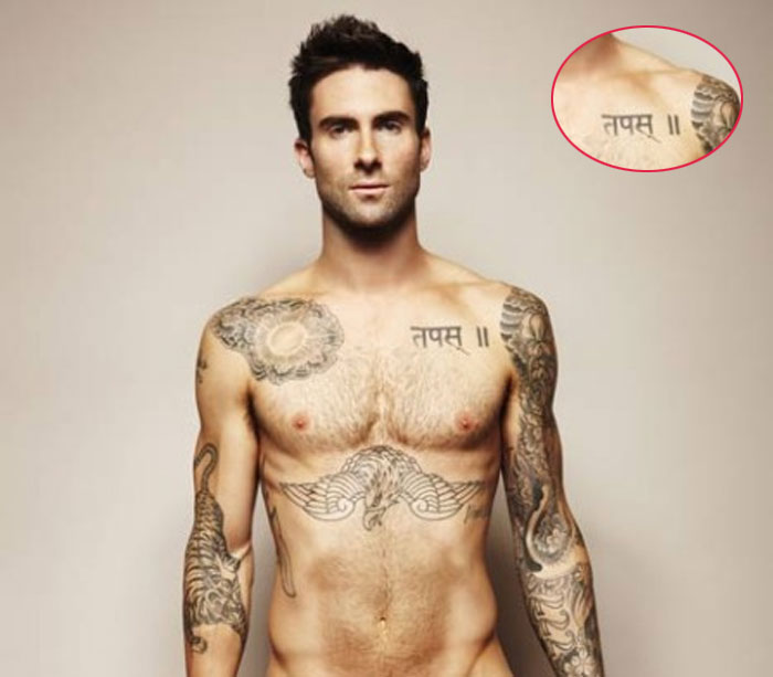 World Famous Celebrities Adam Levine And Full Tattoos On His Body