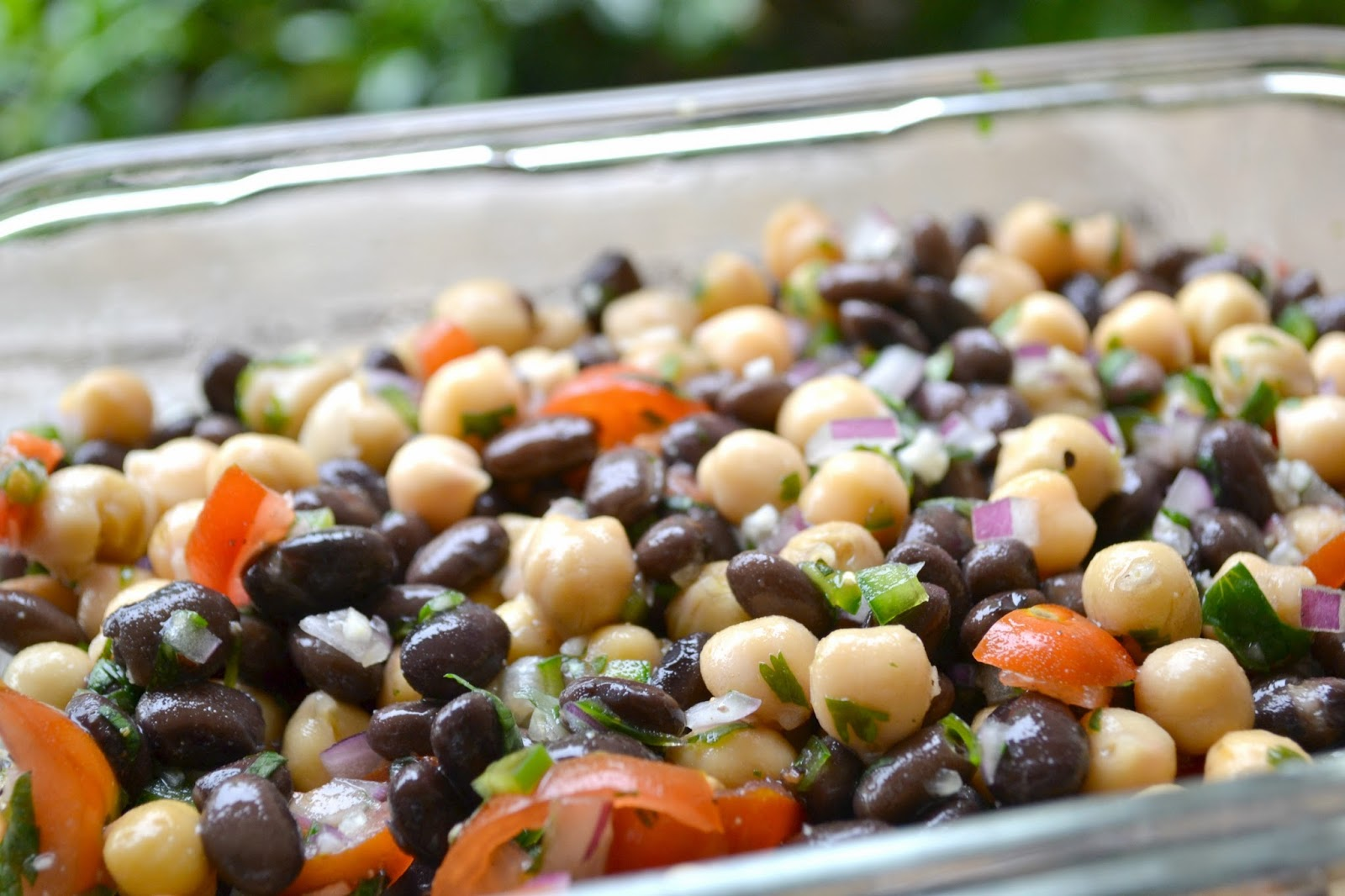 Black bean,Chickpea Salad