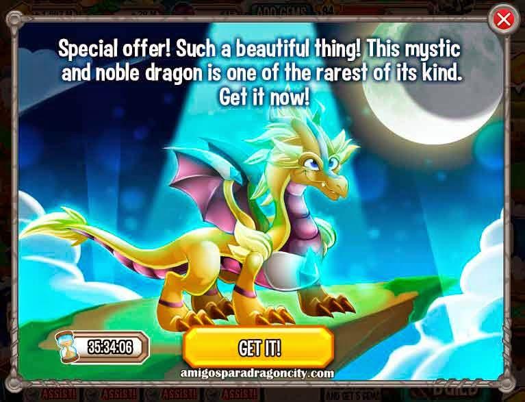 imagen de la oferta del dragon rayo de luz