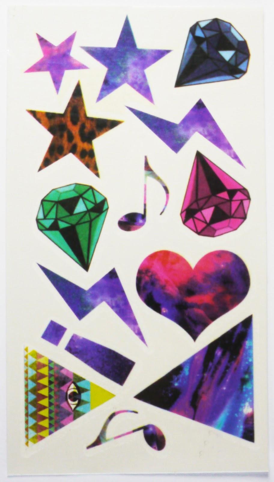 Temporary Tattoo Set #2 - Music & Stars