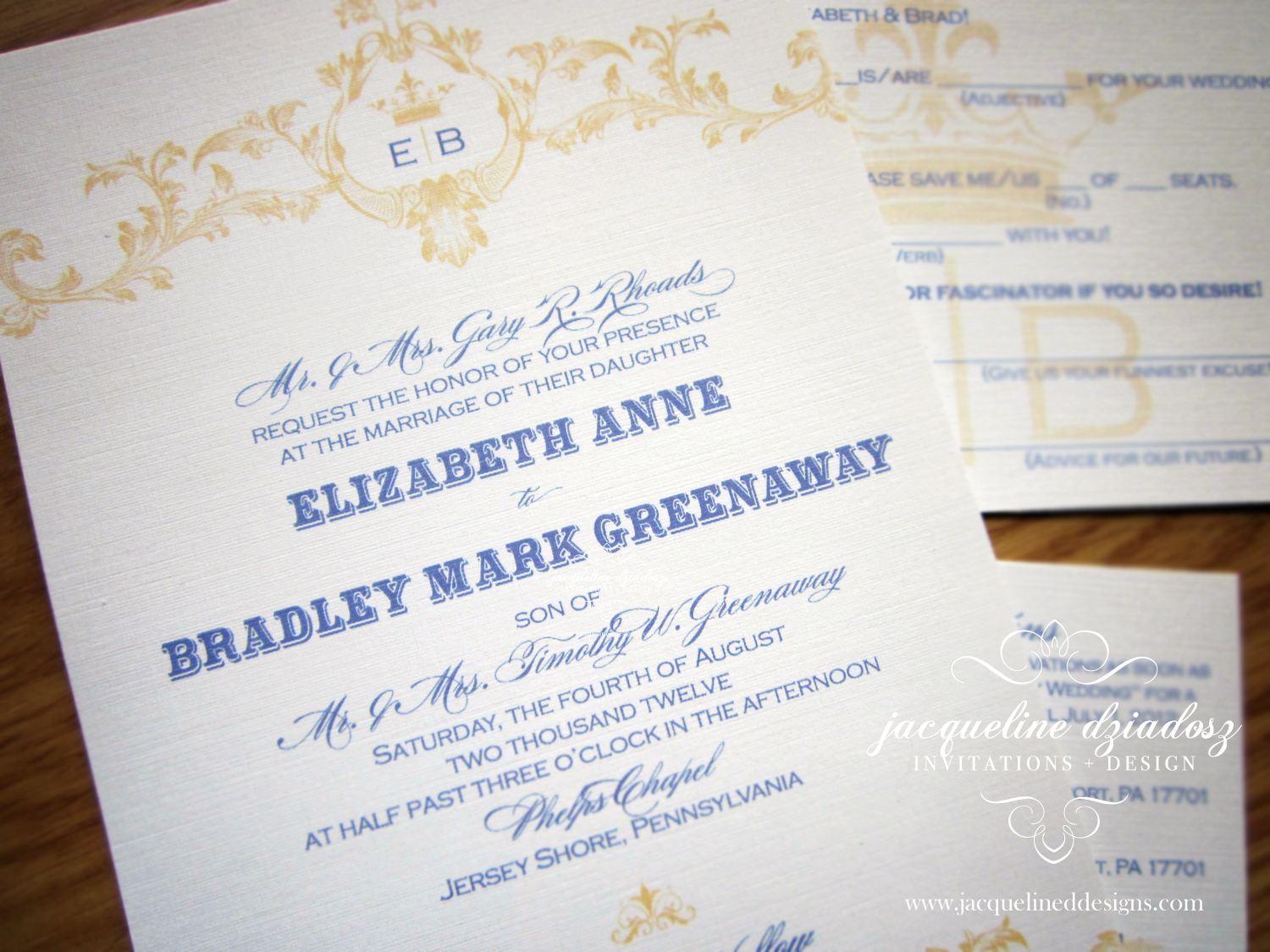 Elizabeth & Brad\'s Parisian Wedding Invitations | Jacqueline ...