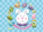 IMAGINI DESKTOP DE PASTE happy easter rabbit