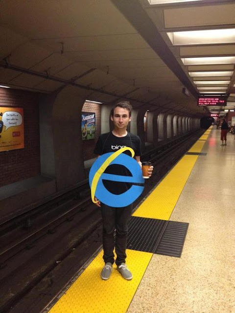 Disfraz de internet Explorer