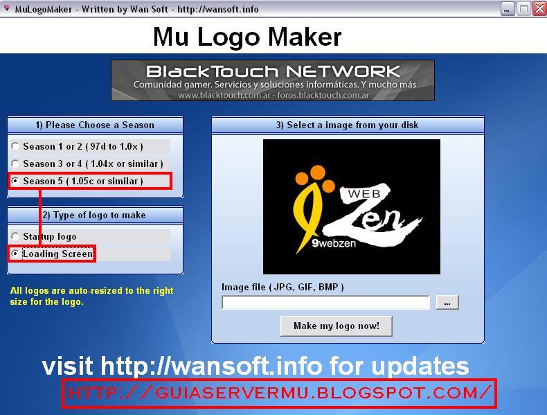Selección de logo loading screen