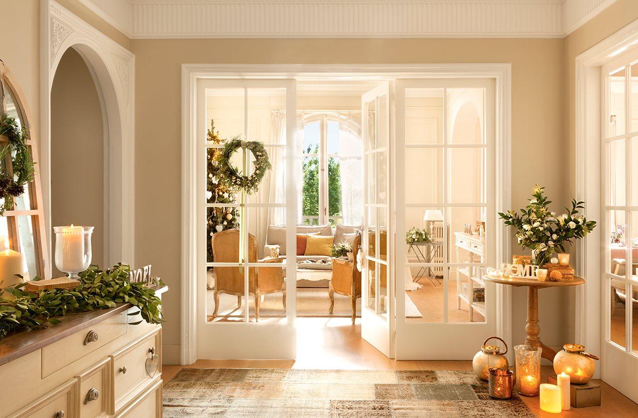 Francuski dom w wi tecznej ods onie bajkowe wn trza - Decoracion puertas blancas ...