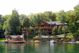 One of the beautiful houses we saw on a Finger Lakes in New York