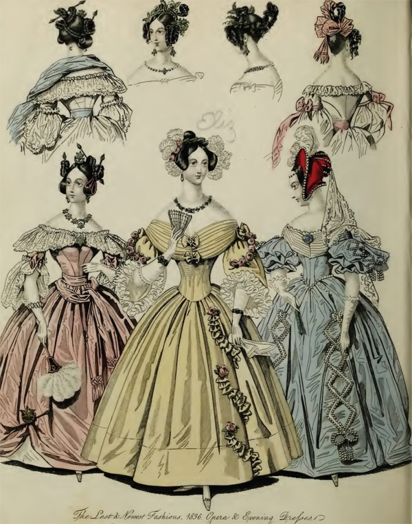Romantic Era Clothing Romantic Era Fashion Plate April 1836 The World Of Fashion