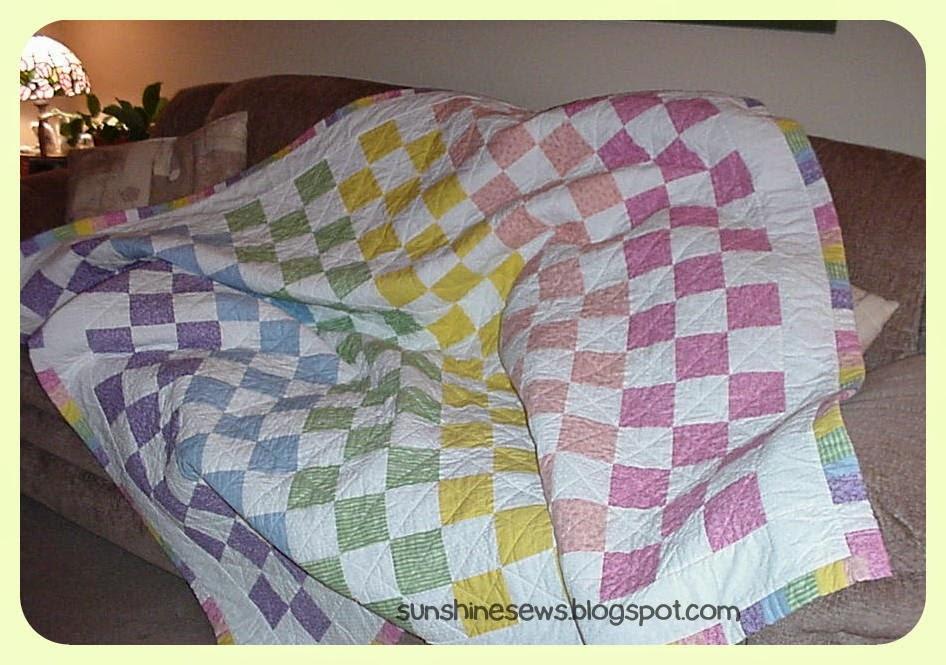 Pastel Patchwork Quilt