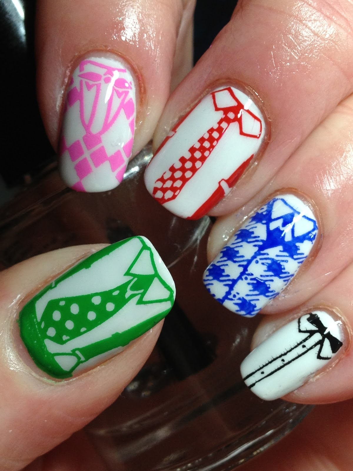 Canadian Nail Fanatic: 40 Great Nail Art Ideas - Geeks!