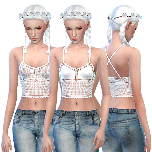 My Sims 4 Blog: Crochet Crop Top by LittleBigShortie