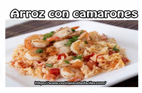 camarón, Recetas de arroz, vino,cerveza, ajo, cebolla, chile, pimentón, guisantes, perejil