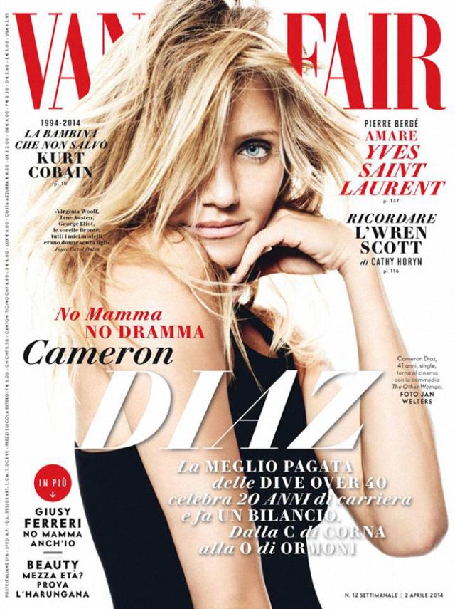Cameron Díaz en portada de la revista Vanity Fair abril 2014