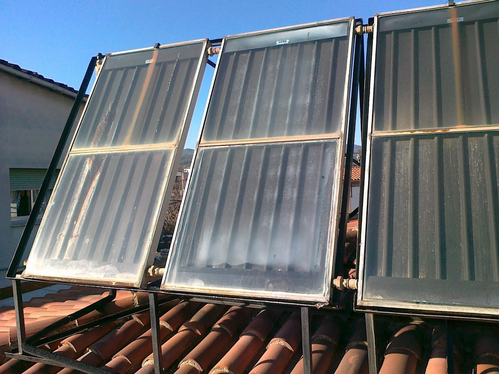amortización de placas solares para calentar agua caliente