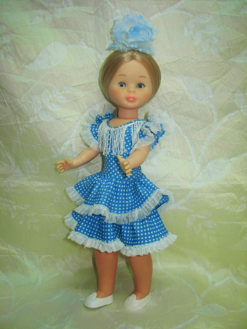 Vestido original de gitana corto de los 70