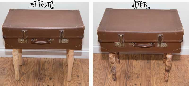 Vintage Suitcase Side Table Part 64