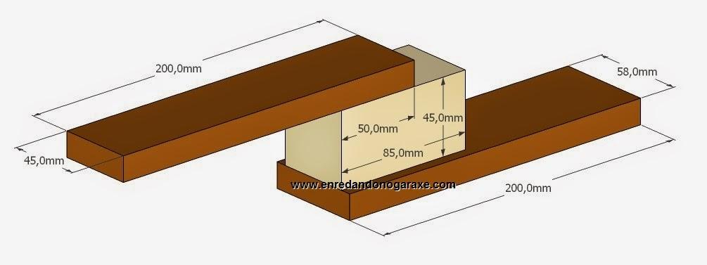 Medidas del soporte para los rodamientos. Enredandonogaraxe.com