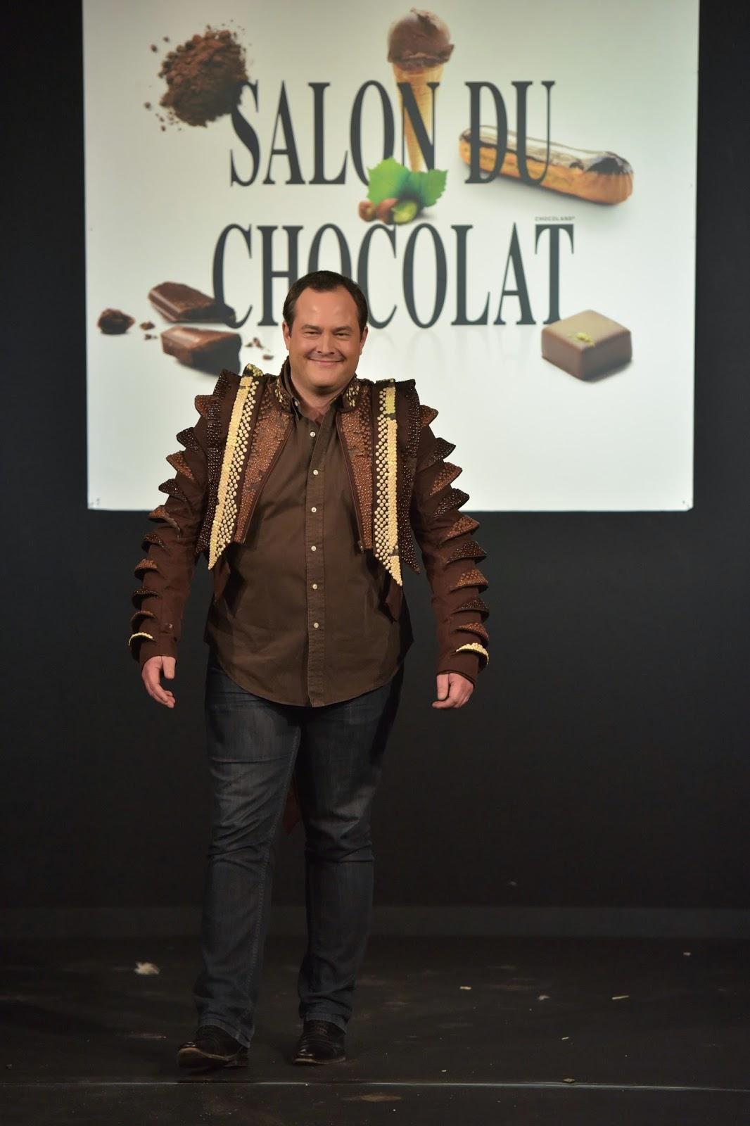 Veste chocolat salon du chocolat Bruxelles