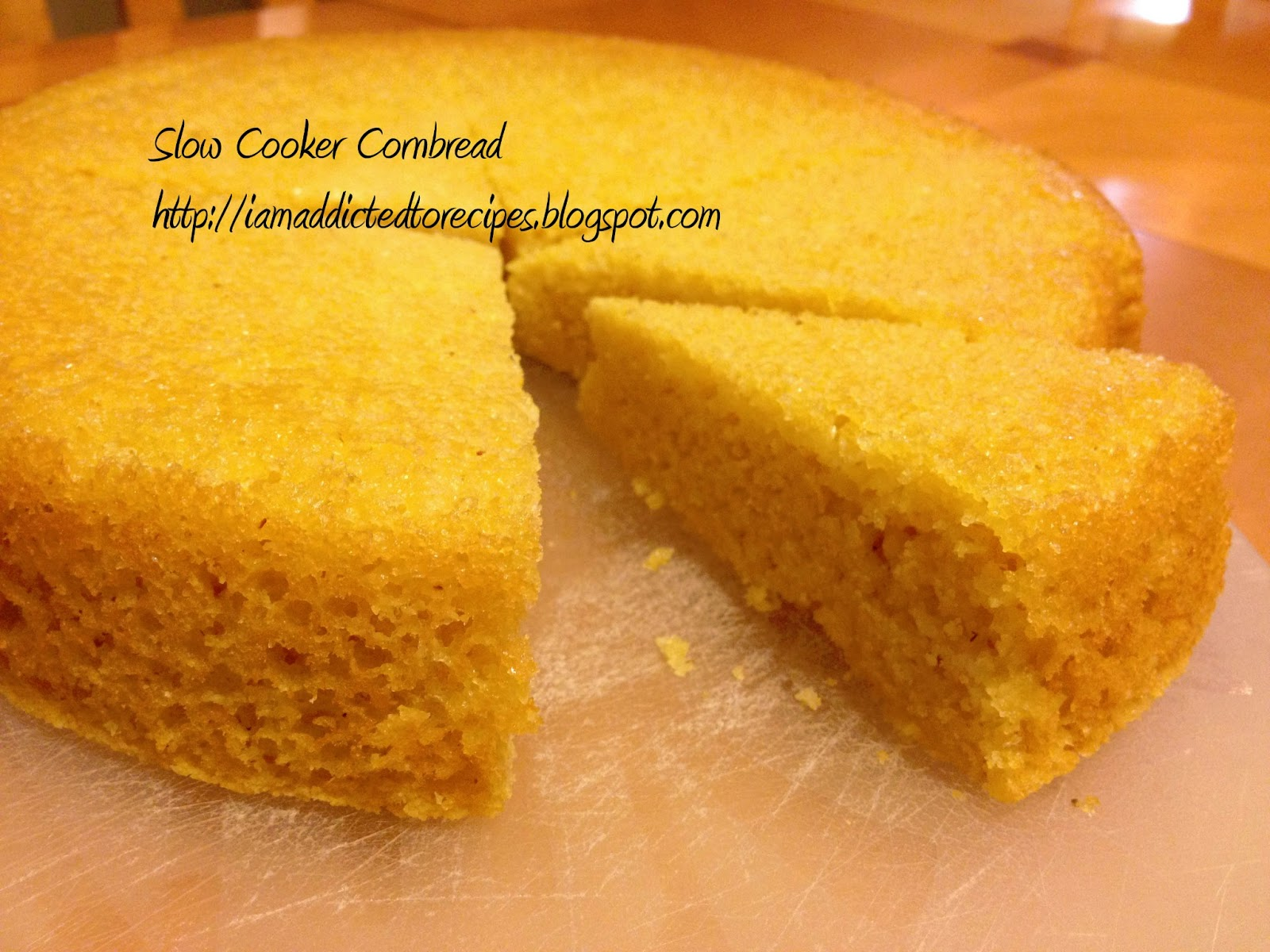 Easy Cornbread | Slow Cooker | Addicted to Recipes