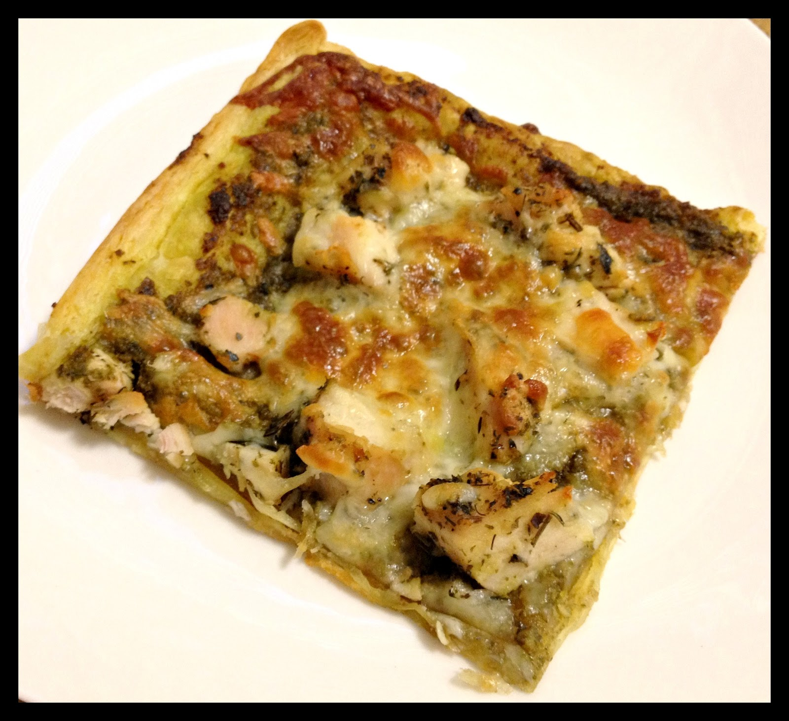 Pesto Chicken Tart Recipe — Dishmaps