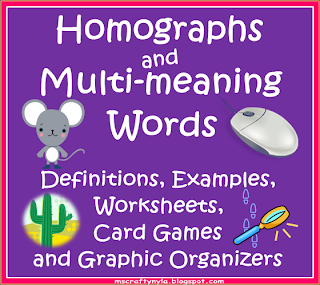 What are homographs and multi-meaning words?