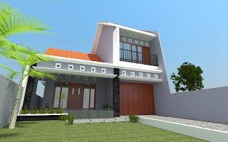 Desain rumah dengan 1 ruang di lantai 2, Keluarga Triyuni, Sutojayan, Blitar