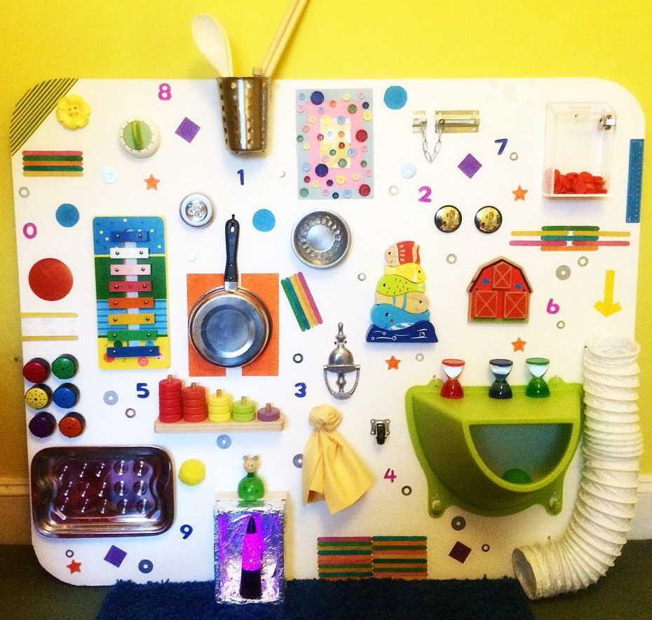 Learning and Exploring Through Play DIY Sensory Board Fun