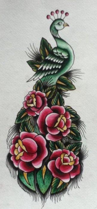 Lovezofo tattoo dreamz for Traditional peacock tattoo