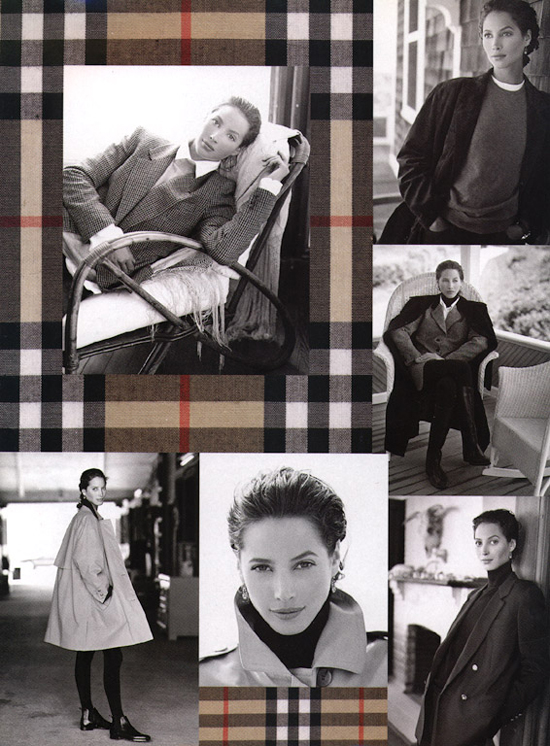 Christy Turlington in Burberry Prorsum Burberry's Today Autumn 1993 campaign