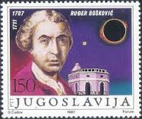 Yugoslavian stamp honoring R J Boscovich, S. J.