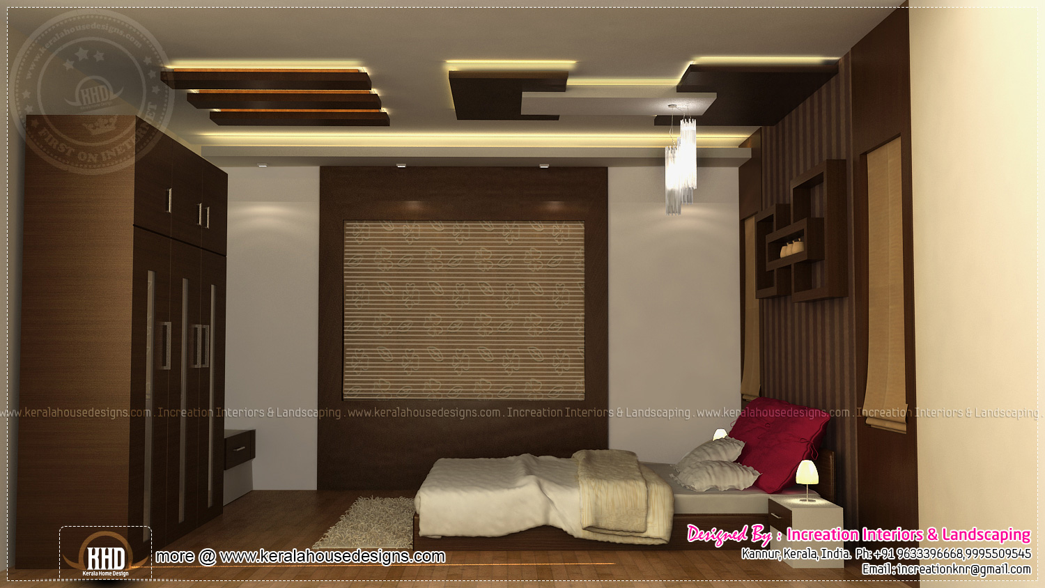 Interior designs by increation kannur kerala home for Model bedroom interior design