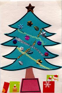 Easy Christmas Tree Card Craft Preschool Crafts For Kids