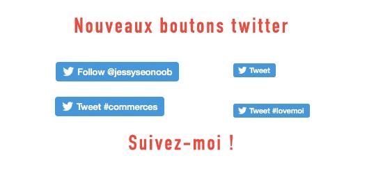 Nouveaux boutons twitter