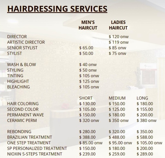 goodwood park hotel georginas salon haircut perming promotion