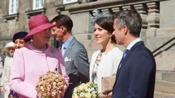 Queen Margrethe of Denmark, Crown Prince Frederik and Crown Princess Mary of Denmark, Princess Marie of Denmark and Prince Joachim at Christiansborg Palace