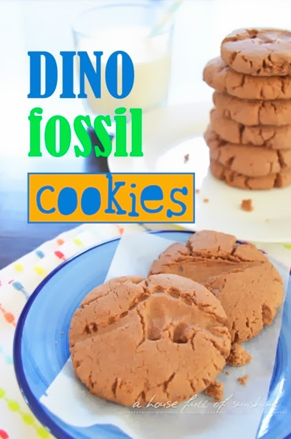 house full of sunshine: After-school snack - Dino Fossil cookies
